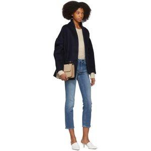 Toteme designer mid blue straight denim jeans